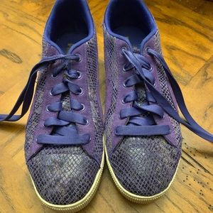 Purple and blue puma platform sneakers